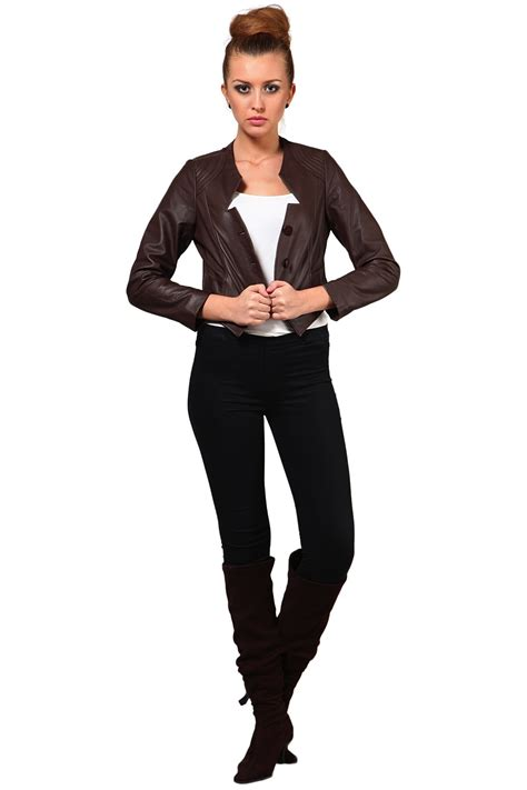 leather jacket in brown color winter leather jackets for