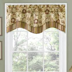 valance styles traditions by waverly navarra floral 52 quot curtain valance reviews wayfair