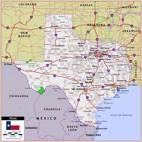 texas colorado map us texas roads map texas mappery