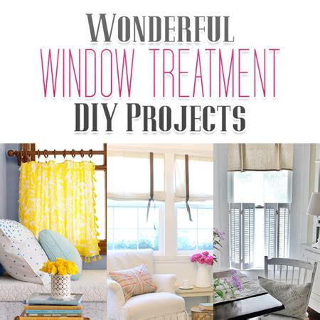Wonderful Window Treatment DIY Projects   The Cottage Market