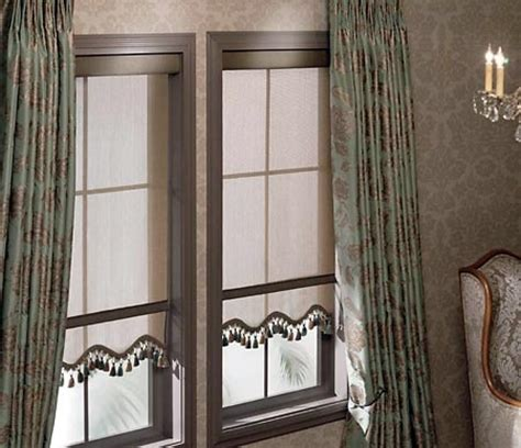 decorative trim for drapes dress up a roller shade with scalloped edges decorative