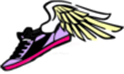 running shoes with wings clipart running shoe with wings purple pink clip at clker