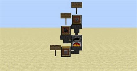 Minecraft Automatic Feeder automatic smelter minecraft project