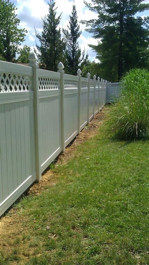 backyard vinyl fence vinyl fence yard pinterest