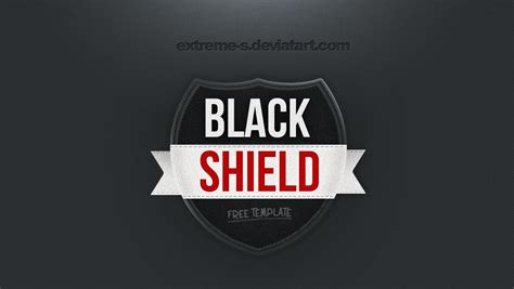 shield psd template black shield logo template psd by s on deviantart