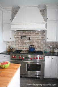 backsplash in white kitchen brick backsplashes rustic and of charm