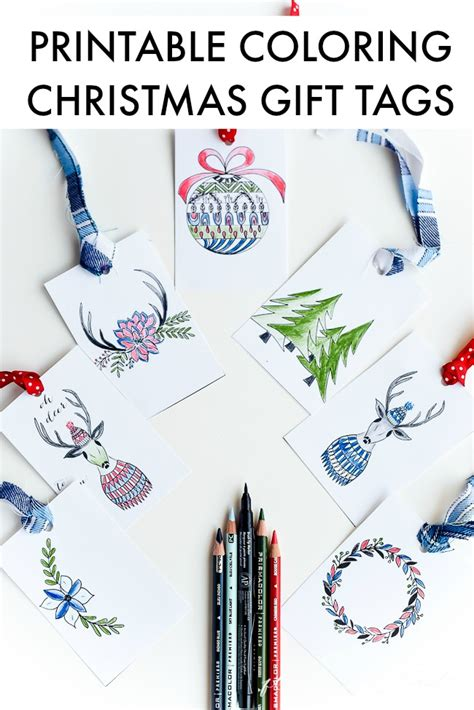 free printable christmas gift vouchers homemade colors free printable christmas tags that you can color