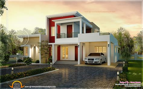 awesome house designs awesome modern house in 195 square meter kerala home design and floor plans