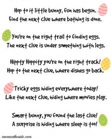 template for scavenger hunt printable easter scavenger hunt clues
