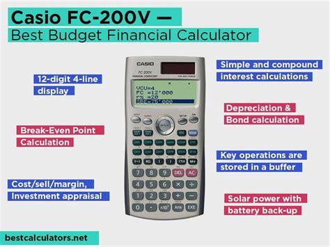 Casio Financial Calculator Fc 200v top 5 best financial calculators november 2018