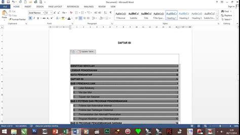cara membuat daftar isi otomatis ms word 2013 cara membuat daftar isi otomatis ms word 2013