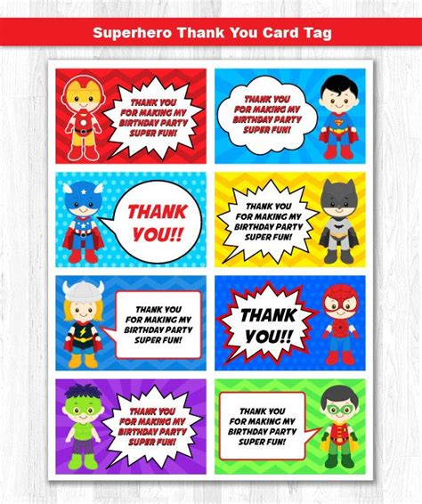 thank you card template heroes thank you tag thank you card