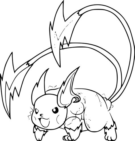 coloring pages of mega pikachu mega raichu pokemon coloring pages images pokemon images