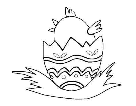 pollito en su cascaron colouring pages pajaro saliendo de su cascaron para colorear imagui