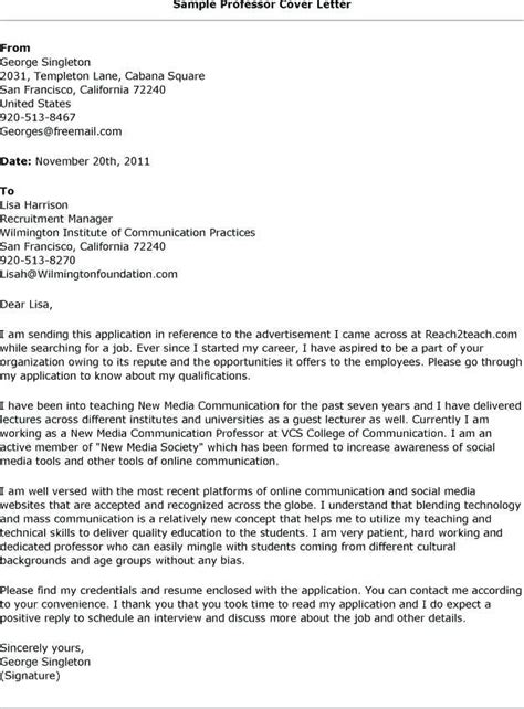 cover letter adjunct professor adjunct faculty cover letter template