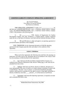 limited liability agreement template llc operating agreement what is an llc operating
