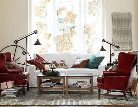 red and cream living room fall winter 2013 outfits inspired by pottery barn home