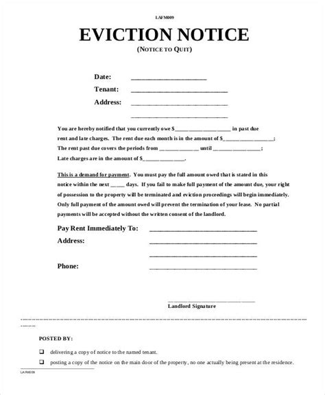 printable free eviction notice forms eviction notice form colomb christopherbathum co