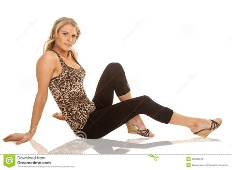 Sxb One Print Tank Top And Legging animal print tank top sit on floor royalty free