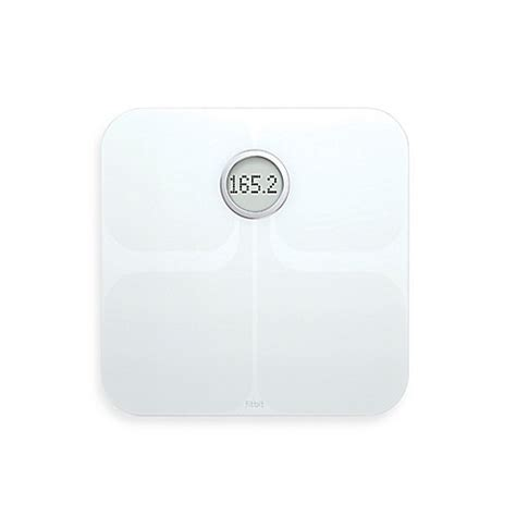 fitbit bathroom scale buy fitbit 174 aria wi fi smart bathroom scale in white from