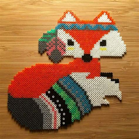 perler bead fox 646 best perler images on pearler bead
