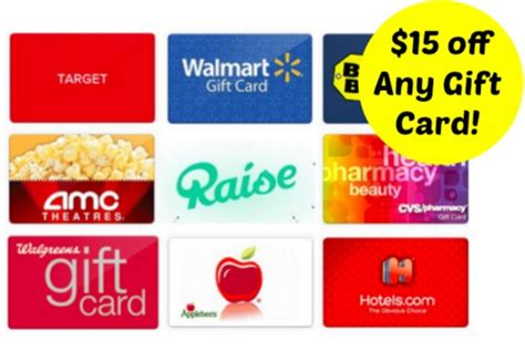 Gift Card Raise - run free 15 credit to buy gift cards on raise walgreens starbucks target more