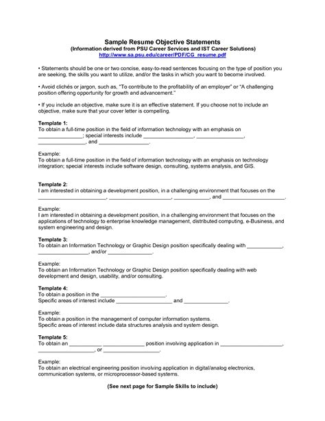 objective statements for resumes exles exles of resumes essay cover page title extended