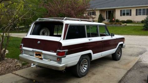 lowered jeep wagoneer find used 1980 jeep wagoneer 4x4 amc 360 no reserve