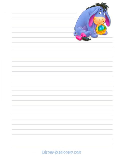 printable disney stationary stationary free printable disney s winnie the pooh s