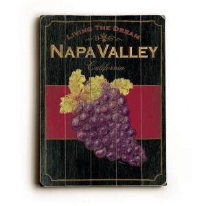 artehouse 14 in x 20 in napa valley wine vintage wood