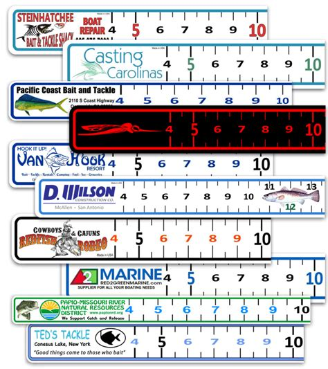 fishing decals for boat boat ruler vinyl decal