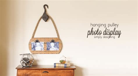 hanging picture display hanging pulley photo display