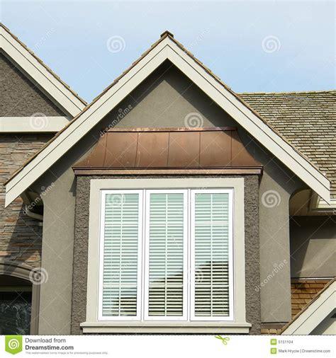new home exterior roof peak stock photo image 5151104