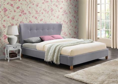 grey fabric bed frame birlea kensington 4ft6 double grey fabric bed frame by birlea