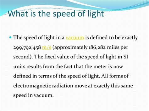 What S The Speed Of Light by Light Reflection