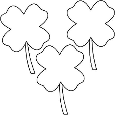 coloring pages of four leaf clover four leaf clover coloring pages best coloring pages for kids