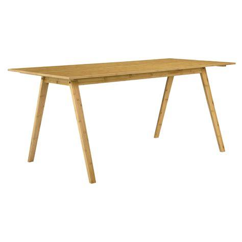 moderne speisesaal tisch sets en casa 174 esstisch bambus mit 6 st 252 hlen grau gepolstert