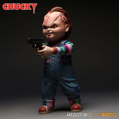 figure doll mezco s 5 inch chucky figure plastic and plush