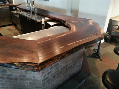 how to build a commercial bar top indoor gallery bar top remodel black walnut brian j gallagher s custom carpentry