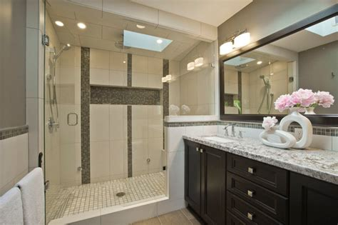 Master Bath Floor Plan by Master Ensuite Bathroom Transitional Bathroom