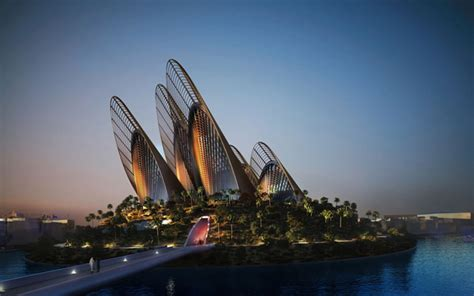 abu dhabi saadiyat cultural district zayed national futuristic zayed national museum cooled with wing shaped