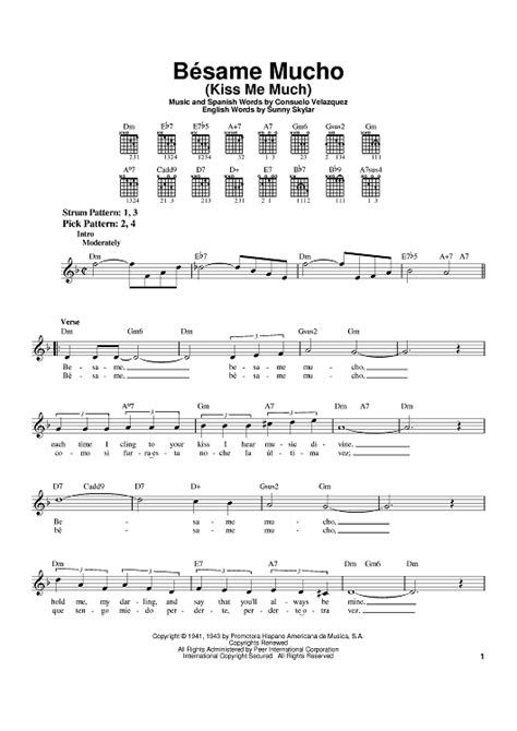 bsame mucho besame mucho kiss me much sheet music for piano and more onlinesheetmusic com