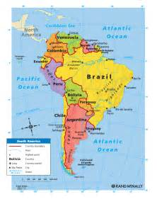 political south america map science at school geography 6th grade