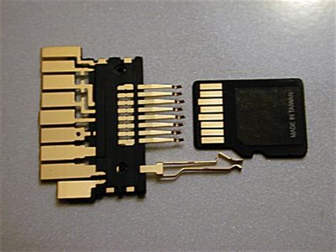 inside the minisd to sd adapter and the microsd to sd adapter