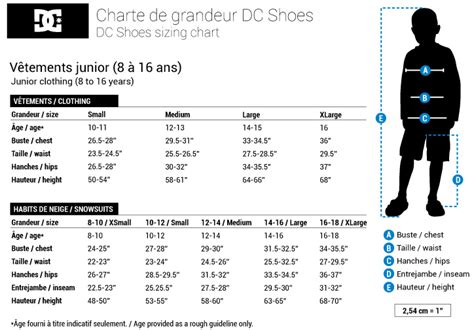 shoe size chart dc junior clothing cl 201 ment teen clothing dc shoes