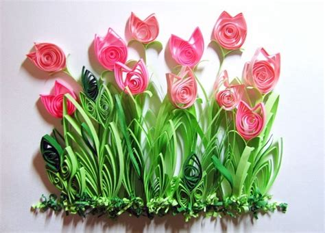 the art of quilling quilled tulips the art of quilling pinterest