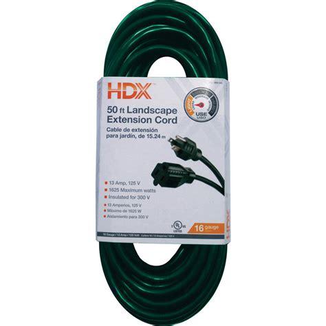 100 Ft X 14 Indoor Outdoor Extension Cord - hdx 50 ft 16 3 indoor outdoor landscape extension cord