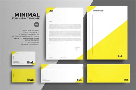 stationery templates 80 modern stationery templates design shack