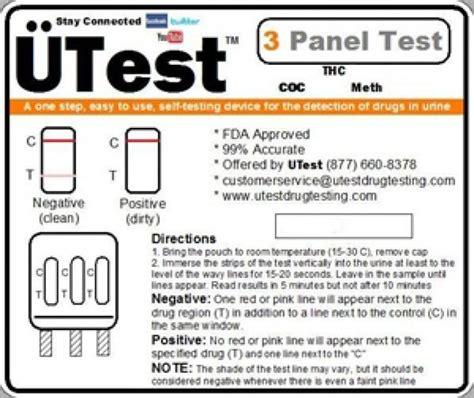 Meth Detox Test by Utest O Meter 3 Panel Dip Test Thc Coc Meth Bcss