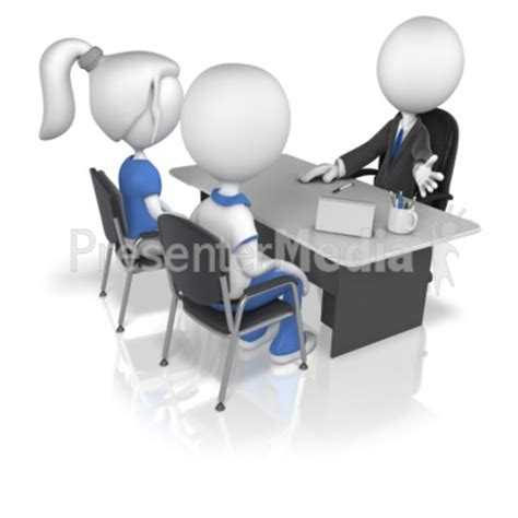 business figure with clients presentation clipart